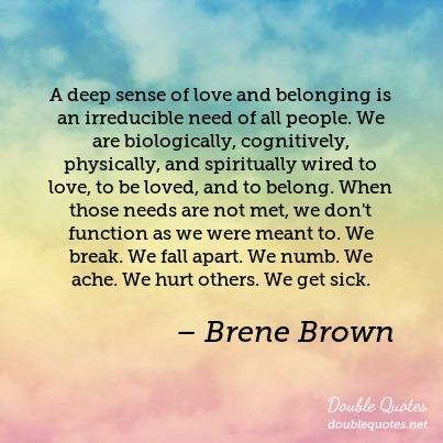 belonging is a basic human need and we all need to belong in some way essay Belonging means creating an environment where we all feel like a tight-knit tribe, we're all equal and we're rowing in the same direction to reach our goals think about gangs—where people.